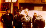 Dick Wilmarth, George Attla, Dan Seavey, and Bobby Vent in Nome after the 1973 Iditarod Trail Sled...