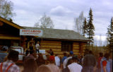 Festivities for the Iditarod Race headquarters dedication in Wasilla.