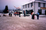 Joe Redington Sr. racing sled dogs in Talkeetna.