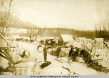 Camp at Wortmans [sic] Station, Valdez-Fairbanks Trail.