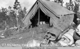 U.S. Tel[egraph] Constr[uction] camp on Valdez-Fairbanks Trail, Alaska.