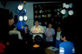 Joe Redington Sr. stands inside of a school room for a birthday celebration during the 1995...