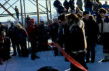 Ribbon-cutting ceremony for the Iditarod Trail Sled Dog Race.