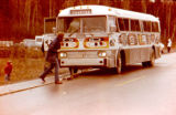Bus used for Redington's 200-dog hookup in Knik in 1976 for Bicentennial celebration.