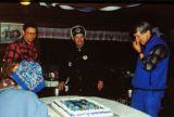 Joe Redington Sr. on his 78th birthday during the 1995 Commemorative Serum Relay Race.
