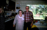Lorna and Hank Buege pose in a kitchen.
