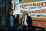 Two men at Iditarod headquarters groundbreaking ceremony.