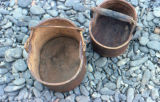 Spruce wood berry buckets from Shaktoolik.