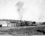 Railroad construction work train, Wasilla, Alaska, 1917.