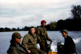 Reclamation crew in boat, sixteen miles up the Big Susitna River.