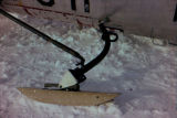 Wooden ski or ski strut of airplane.