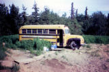Old bus used as handler housing in Joe Redington Sr.'s dog lot.