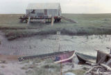 Dutch Wales fish camp at the mouth of the Big Susitna River.