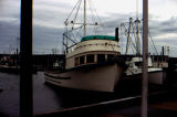 Fishing boat, Gail-T, docked at small boat harbor.