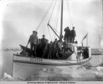Life savers who went to rescue the imprisoned vessels, June 15, [19]08, Nome, Alaska.