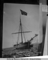 Sloop Gjoa, the first boat to make the North West Passage by Capt. Amundsen, Sep[t.] 2, 1906.