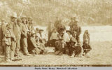 Stick and Tlingit Indians gambling, Dyea, Alaska.