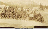 Group of Indians, Dyea, Alaska.