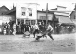 Wheelbarrow race, Valdez, Alaska, July 4 1908.