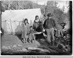 Native family in camp.