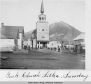 Greek Church Sitka, Sunday, c. 1890.