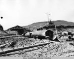 Submarines converted into scrap on Kiska Island, August 1943.