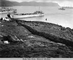 Remains of Japanese tunnel on Kiska Island, August, 1943.