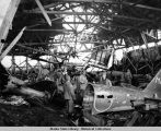 Destroyed hangar, Kiska Harbor, August 1943.