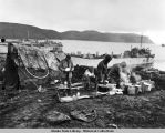 Canadian troops' makeshift kitchen on Kiska Island, August 1943.