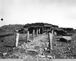 Japanese shrine on Kiska Island, August 1943.