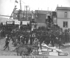 Arrival of Gov. Hoggatt at Nome July 28(?) 1906.