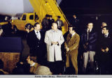 Governor Hammond, President Ford, and Senator Stevens, in Alaska, 1975.