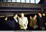 Governor Hammond, President Ford, Ted Stevens, and Don Young, in Alaska, 1975.