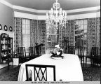 Dining room in the Governor's Mansion, Juneau, 1962.