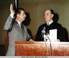Keith H. Miller, taking oath of office, 1969.