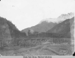 White Pass and Yukon R.R. Crossing Skagway River. Oct. 26. 1898.