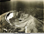 Aerial photograph of top of Mount Edgecumbe, 1929.