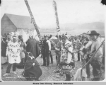 Dancers at the Klukwan Potlach.  Oct. 14. 1898.