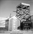 Ice pool watchman's shack, Nenana, Alaska, 10/1941.