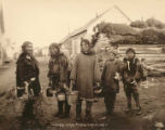 Eskimo berry pickers, Nome, Alaska.