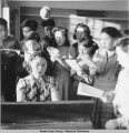 Solomon school room, Solomon, Alaska, 2/1942.