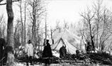 Government camp reindeer fair, Kruzgamepa Hot Springs, Alaska, Feb. 1916.