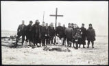 "Cross marking grave of ""Karluk"" party, Wrangel Island, ca. 1914"