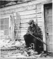 Stevens Village snow shoe maker, 3/1939.