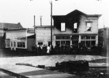 Louve saloon and dance hall on Front Street, Juneau, following 1908 fire.