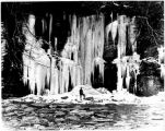 Frozen waterfall and icicles, Killisnoo.