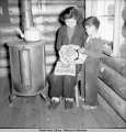 Jean and Billy Fredson, Venetie, Alaska, 3/1939.