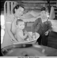 Jean, Virginia and Billy Fredson, Venetie, Alaska, 3/1939.
