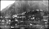 Juneau view, showing Willoughby Avenue on pilings.