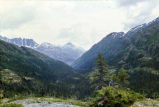 View along Klondike Highway, looking toward Skagway, August 1975.